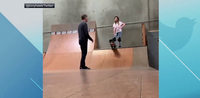 Tony Hawk helps daughter overcome skateboarding fear